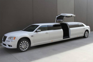 white chrysler limo for hire in Perth